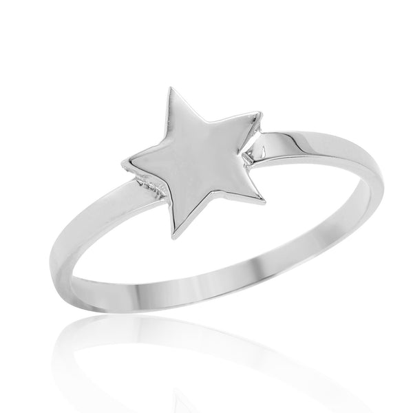 Star Stackable Ring W H I T E T R A S H C H A R M S