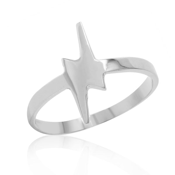 LIGHTNING BOLT Stackable Ring W H I T E T R A S H C H A R M S