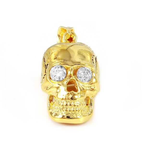 Skull Pendant with Crystal Eyes
