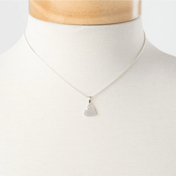 MINI HEART NECKLACE-W H I T E T R A S H C H A R M S