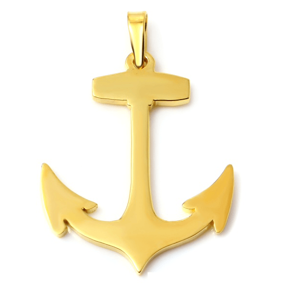 Anchor Gold White Trash Charm S Style