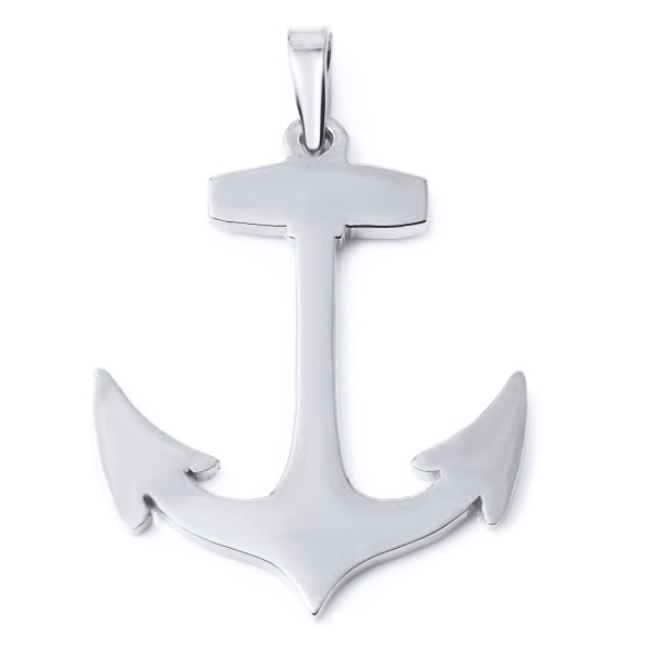 Anchor Silver   White Trash Charm s Style