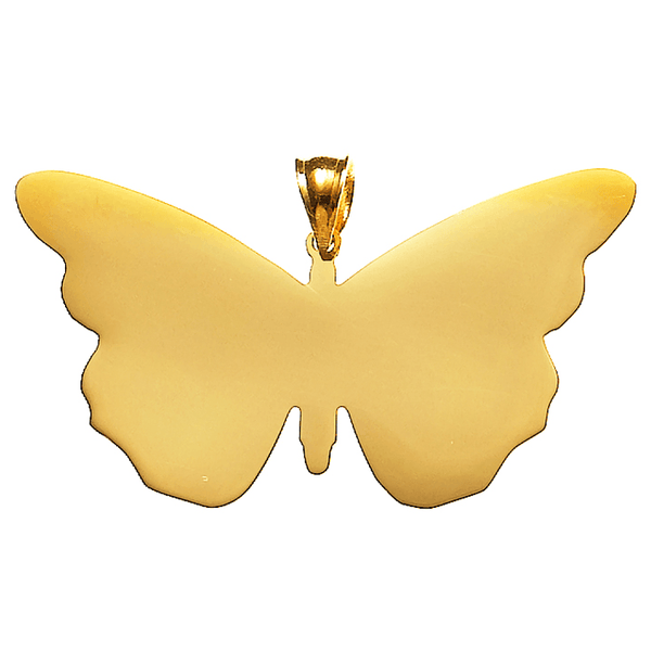 Butterfly Necklace in Gold Vermeil or 14K Gold  White Trash Charm s Style
