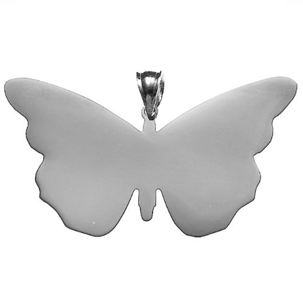 Butterfly Necklace Sterling Silver   White Trash Charm s Style