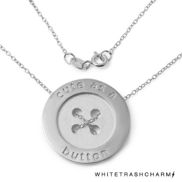 Cute As A Button Necklace W H I T E T R A S H C H A R M S