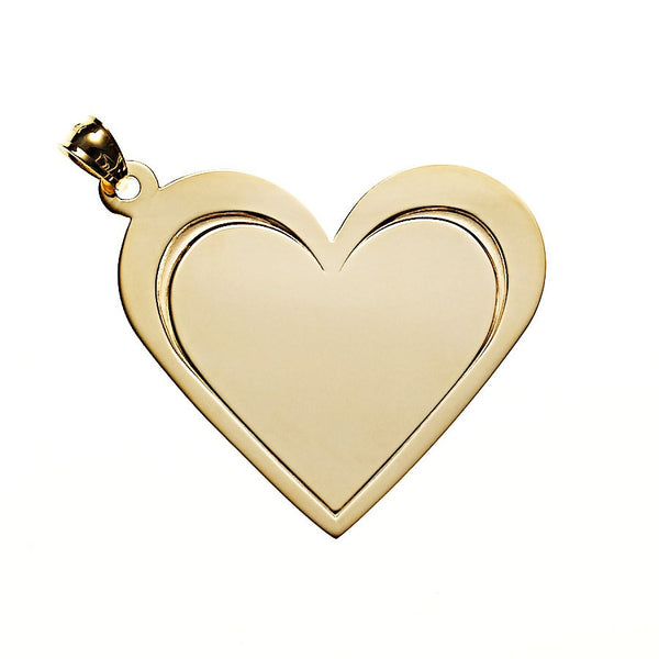 Heart Necklace in Gold - White Trash Charm's Style
