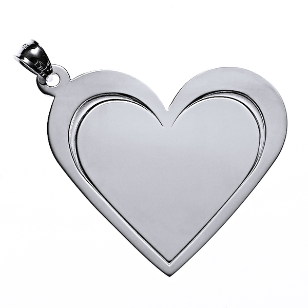 Heart Necklace in Sterling Silver  - White Trash Charm's Style
