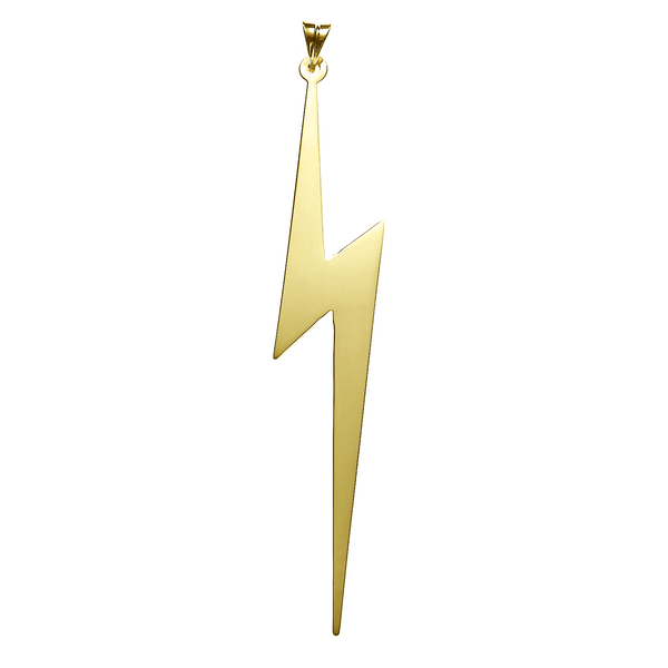 Lightning Bolt Necklace in Gold Vermeil and 14K Gold   White Trash Charm s Style