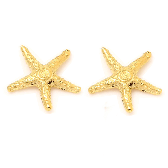 STAR FISH Petite Stud Earrings W H I T E T R A S H C H A R M S