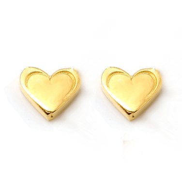 HEART Petite Stud Earrings W H I T E T R A S H C H A R M S