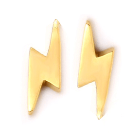 LIGHTNING BOLT Stud Earrings W H I T E T R A S H C H A R M S