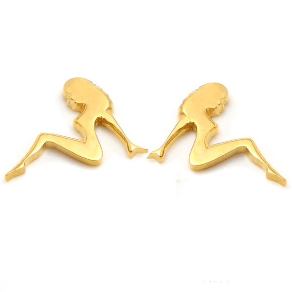 MUDFLAP GIRL Petite Stud Earrings W H I T E T R A S H C H A R M S