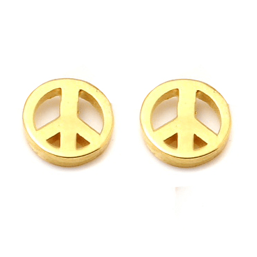 PEACE Petite Stud Earrings W H I T E T R A S H C H A R M S
