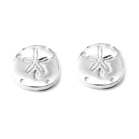 SAND DOLLAR Petite Stud Earrings W H I T E T R A S H C H A R M S