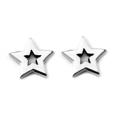 STAR Petite Stud Earrings W H I T E T R A S H C H A R M S