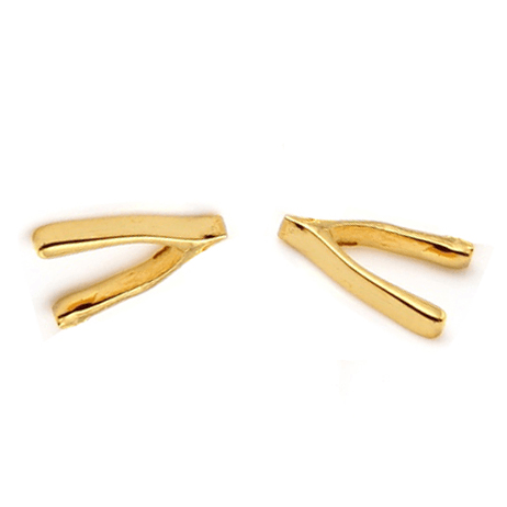 WISHBONE Petite Stud Earrings W H I T E T R A S H C H A R M S