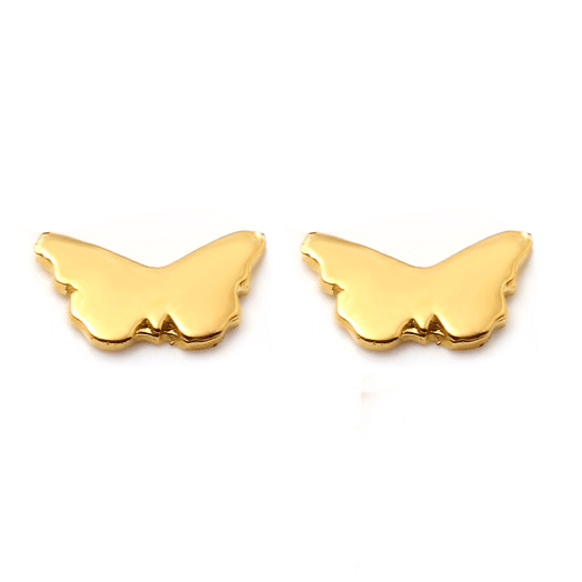 BUTTERFLY Petite Stud Earrings W H I T E T R A S H C H A R M S