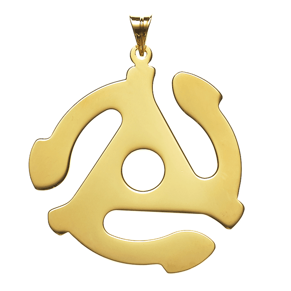 Prince On The 45 Necklace in Gold Vermeil   White Trash Charm s Style