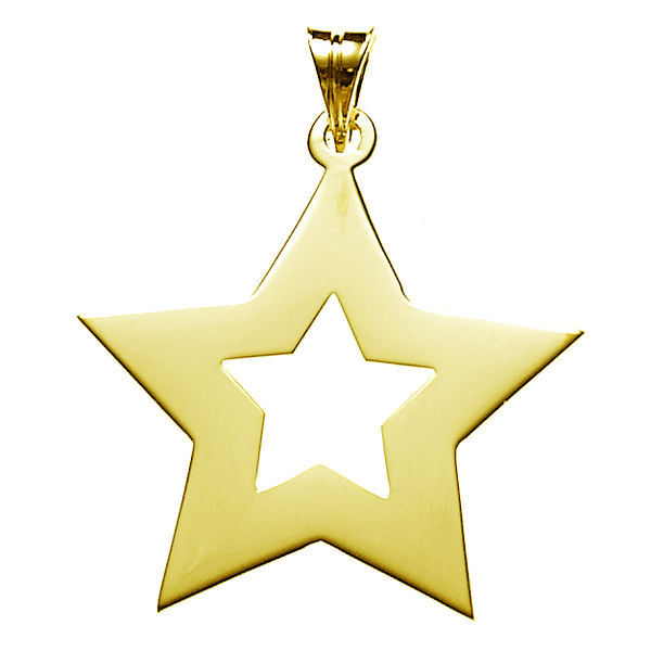 Star Necklace in Gold Vermeil   White Trash Charm s Style