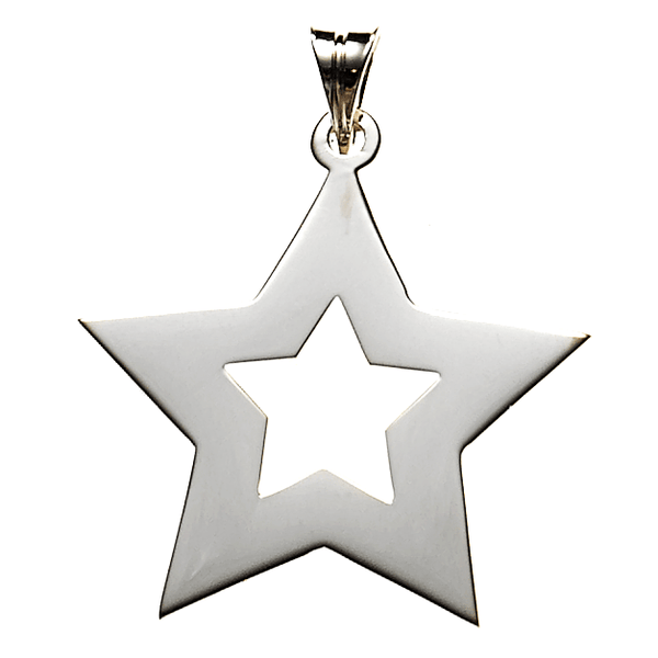 Star Necklace in Sterling Silver   White Trash Charm s Style