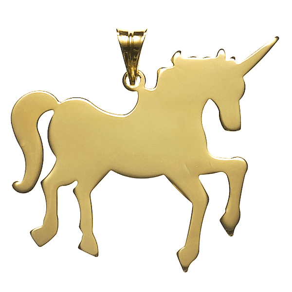 Unicorn Necklace in Gold Vermeil   White Trash Charm s Style
