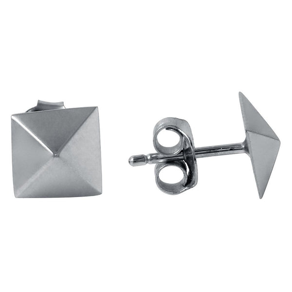Pyramid Stud Earrings in Sterling Silver   White Trash Charm s Style