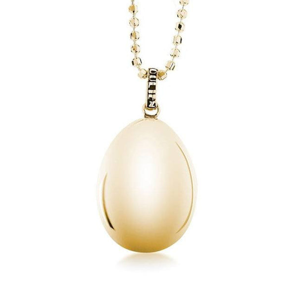Golden Egg Locket Gold   White Trash Charm s Style