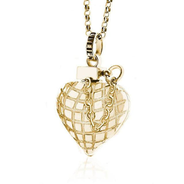 Heart Grenade Gold    White Trash Charm s Style