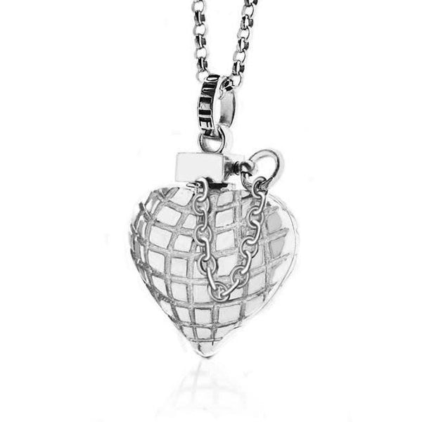 Heart Grenade Silver   White Trash Charm s Style