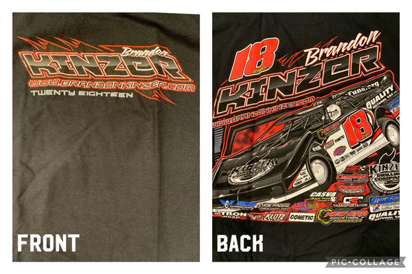 Black Brandon Kinzer Twenty Eighteen T-Shirt