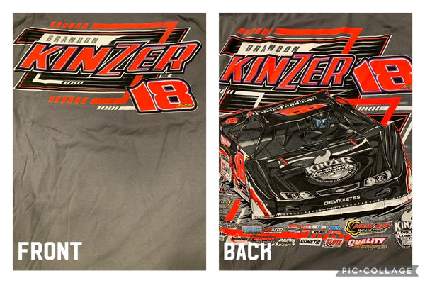 Gray Brandon Kinzer Lines T-Shirt