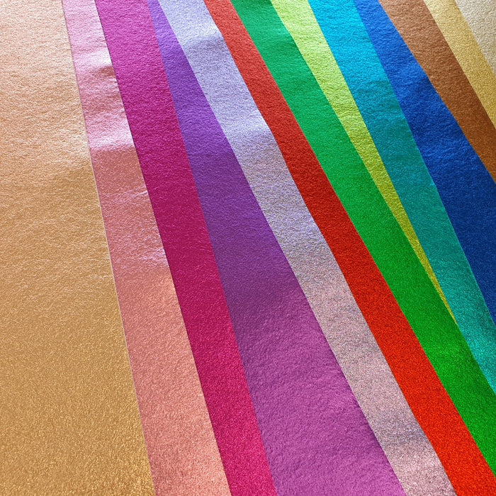Seven Brand New Metallic Wool Felt Colours Out Now!