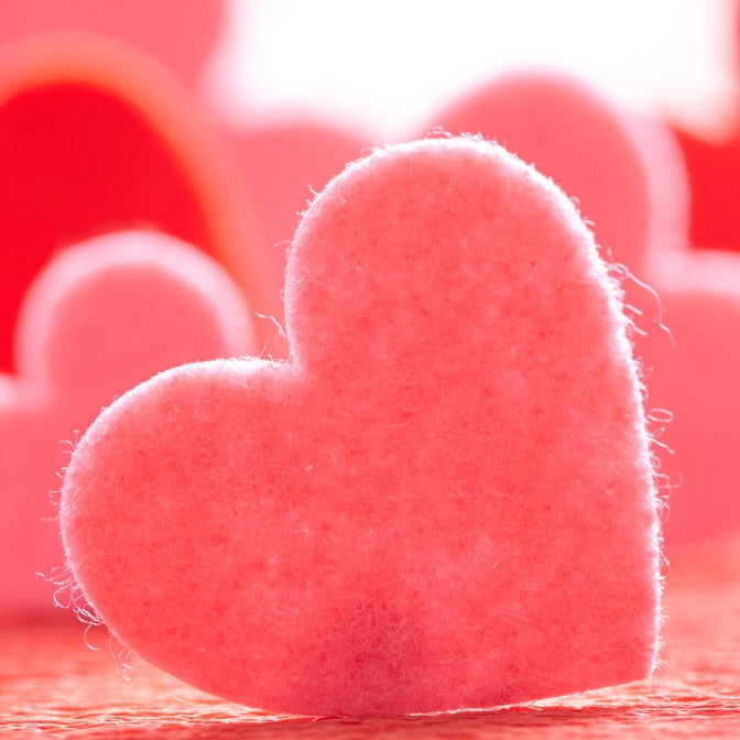 Happy Valentine's Day! Stock is Back & What Ever Happened to the Black & Red Glitter Wool Felt?