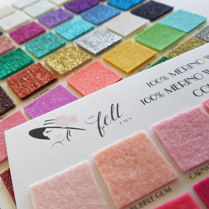 My Felt Lady Colour Chart - Entire Collection