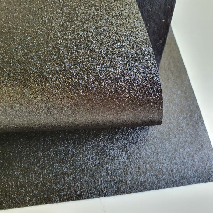 Black Metallic Merino Wool Felt