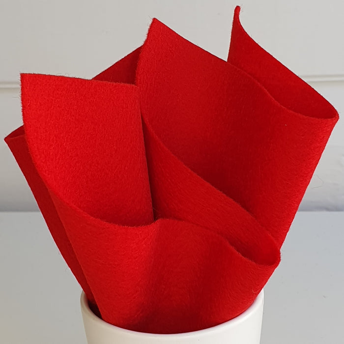 100% Merino Wool Felt - Red