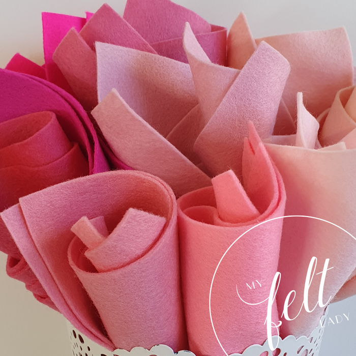 Pink Shades Wool Felt Bundle