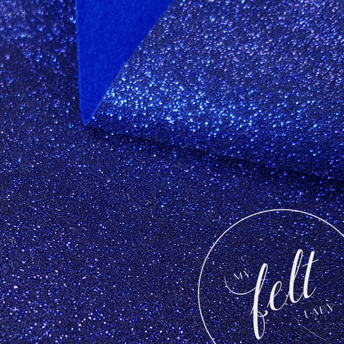 Glitter Royal Blue Wool Felt