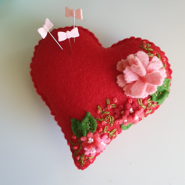 Heartfelt Pin Cushion by My Felt Lady