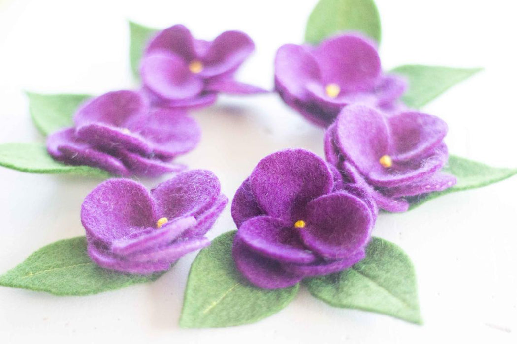 May Blossom Violet Pattern & Felt Kit