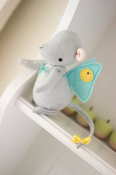 DIY Craft Kit - Mouse with Wings Sewing Kit