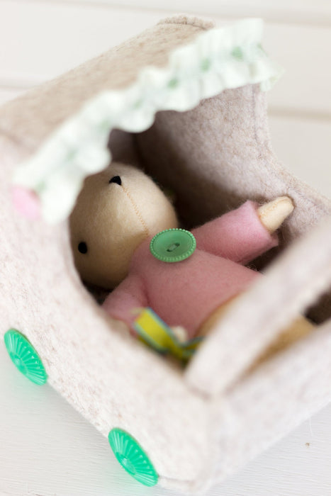 DIY Craft Kit - Mouse in Pram Sewing Kit