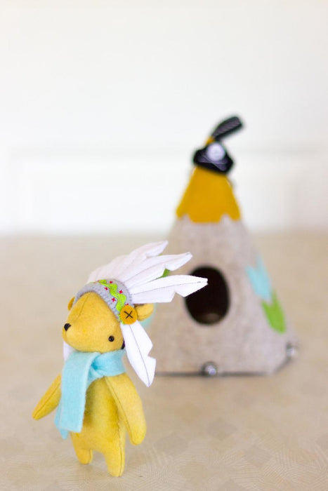 May Blossom Designs Teepee Ted Hard Copy Pattern