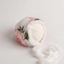 Load image into Gallery viewer, Rosewood Bonnet | Floral, Ruffle-Trimmed Bonnet