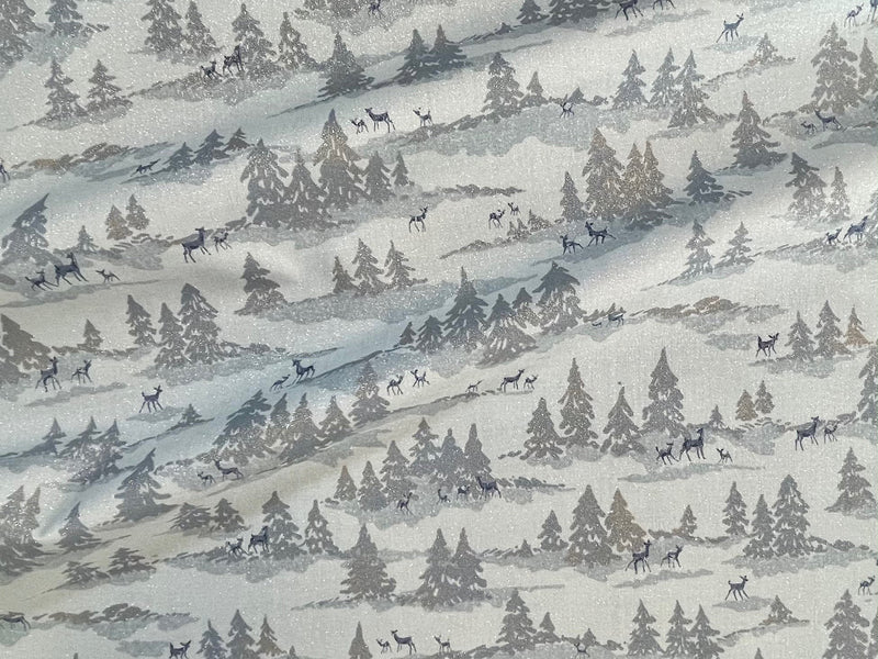 Forest Frost Glitter Icicle  - Moda Fabric 33522 14MG