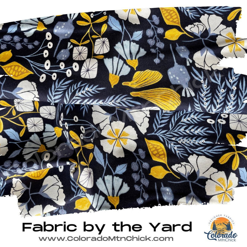 Bee Garden - Rae Ritchie Favorites - Dear Stella SRR1528 NAVY