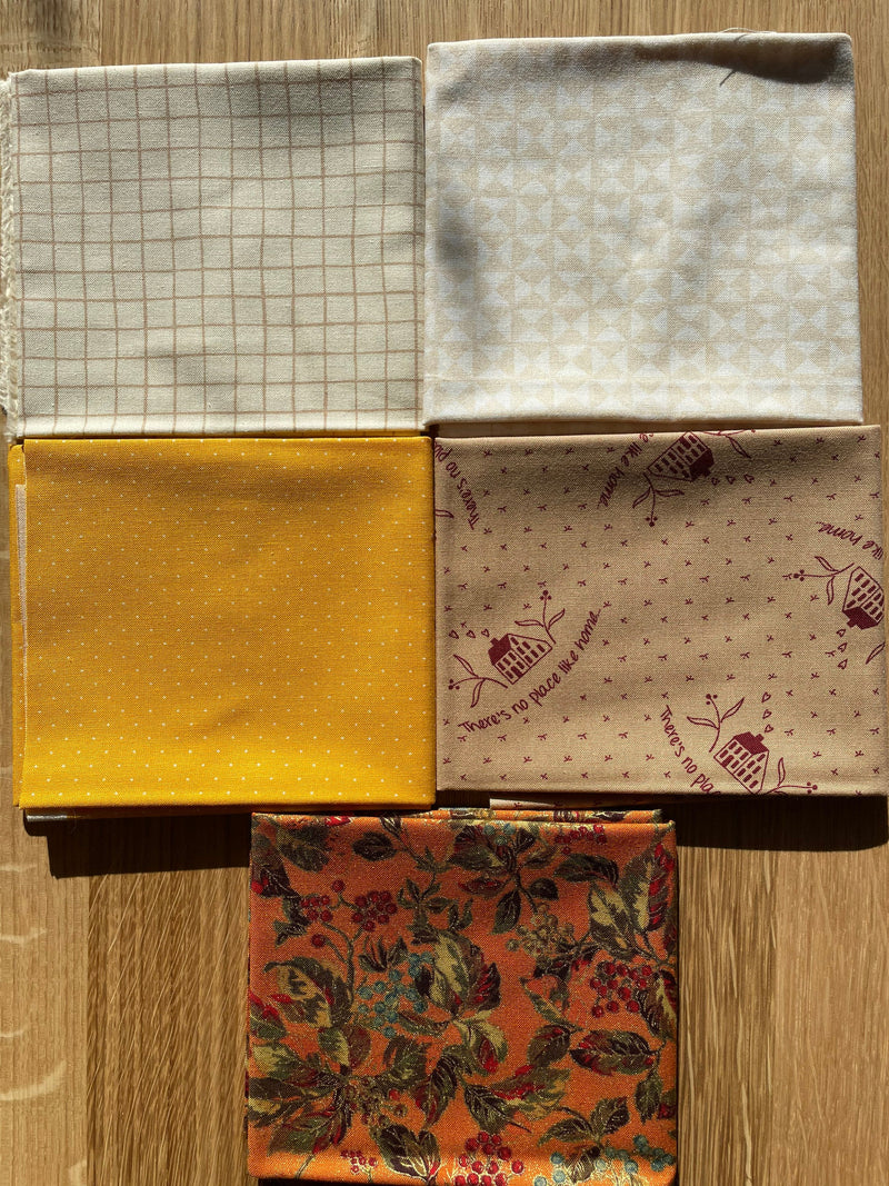 Fall Feeling 5 Piece Curated Fat Quarter Bundles - Moda Fabrics