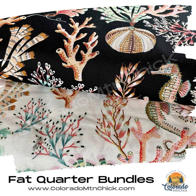 Sea Botanica 2 Piece Fat Quarter Bundle - Figo Fabrics