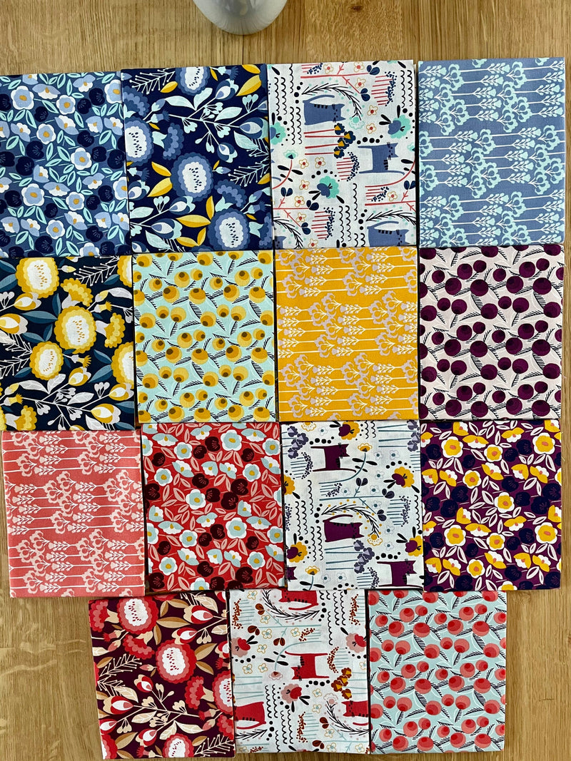 Glory by Megan Carter - Around the World - United Kingdom 15 Piece Fat Quarters - Cotton & Steel Fabrics MC200P-FQB