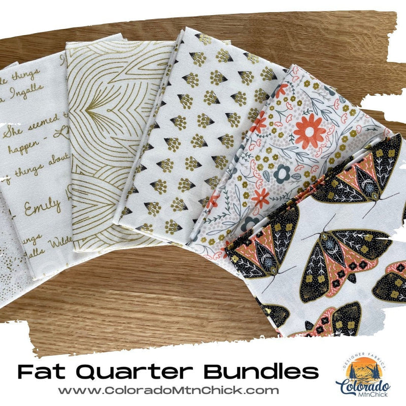 Dwell in Possibility by Gingiber 6 Piece Fat Quarter Bundle White/Gold - Moda Fabrics from 48310AB